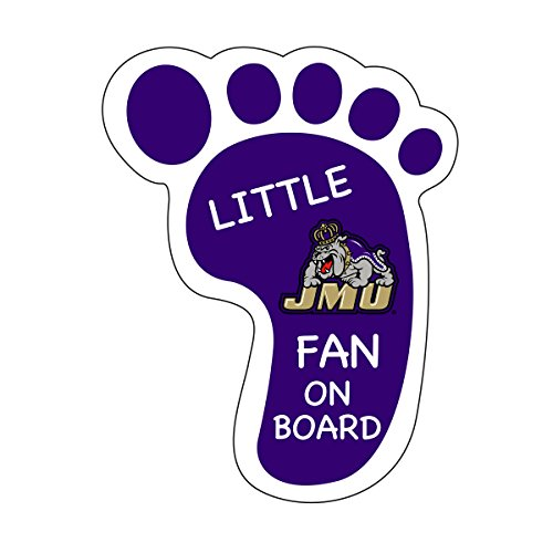- JAMES MADISON DUKES LITTLE FAN ON BOARD DECAL STICKER-JAMES MADISON UNIVERSITY PEEL AND STICK DECAL
