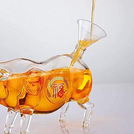 Decantador Juego De Vasos De Whisky Vino Decanter Red - Premium Creativo Inteligente Vino Rojo Aerador, 100% Cristal DE Cristal Cristal, Elegante Y Eficaz Accesorios De Vino De Regalo De Vino