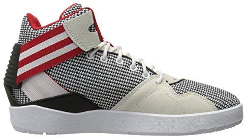 adidas Originals Herren Crestwood Mid-Top Fashion Sneakers Weiß / Schwarz / Scharlachrot