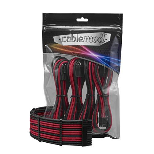 CableMod PRO ModFlex Cable Extension Kit - 8+8 Series - Black/RED [CM-PCAB-BKIT-88KKR-3PK-R]