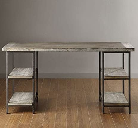 Amazon.com: Renate Contemporary Wood-Metal Home Office Table ...