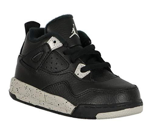 Nike Air Jordan 4 Retro LS BT Infant Toddler Trainers 707432 Sneakers Shoes (UK 6.5 us 7C EU 23.5, Black tech Grey Black 003)