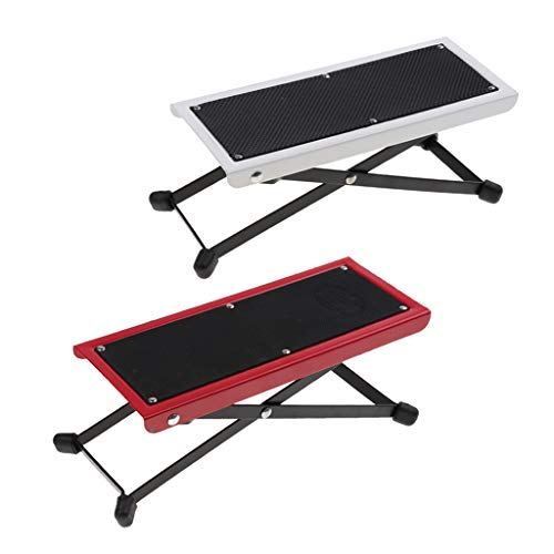 Baosity Foldable Metal Guitar Foot Rest Anti-slip Stand 4-Level for Guitar Player - Red by Baosity (Image #9)