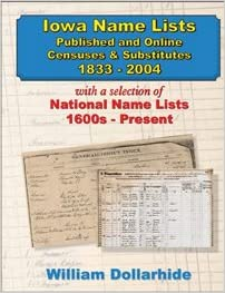 Iowa Name Lists, Published and Online Censuses & Substitutes 1733 ...