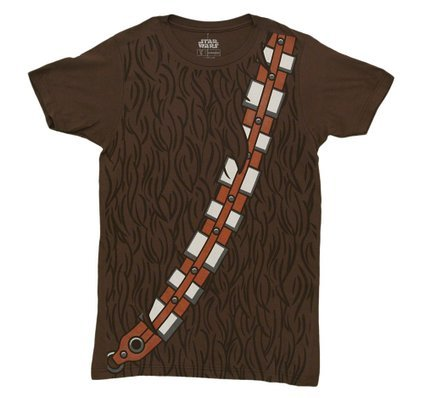 Star Wars I am Chewbacca Costume Adult Brown T-Shirt (Large)