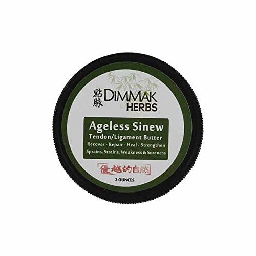 Dimmak Herbs - Ageless Sinew Butter Tendon and Ligament Balm For Pain Relief, With Pure Grapeseed Oil for a Long Lasting Luxurious Feel, with Shea, Mango and Cocoa Butter, 2 Ounces