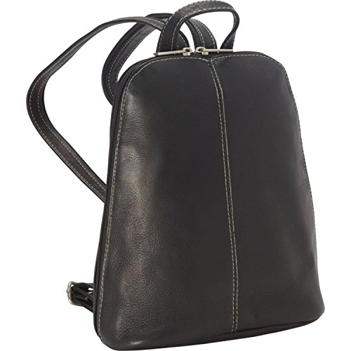 Royce Leather Vaquetta Zip Around Sling Backpack (Black) by Royce Leather