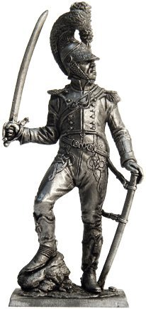 Officer of the Shevoledzher regiment (France, 1811-1815) Tin Toy Soldiers Metal Sculpture Miniature Figure Collection 54mm (scale 1/32) (N44)