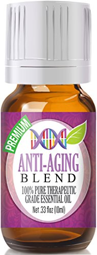 Anti-Aging Blend 100% Pure, Best Therapeutic Grade - 10ml - (Comparable to DoTerra's Immortelle Anti-Aging Blend - Frankincense, Helichrysum, Lavender, Myrrh & Sandalwood)