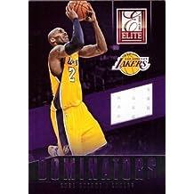 2013-14 Panini Elite Dominators Relics #13 Kobe Bryant Game Worn Jersey Basketball Card – White Jersey Swatch