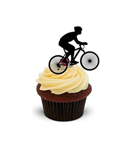 "x12 2"" Mountain Bike Cup Cake Toppers Decorations on Rice ..."