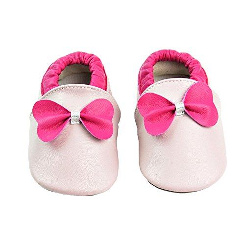Vesi-Zapatos para bebé Primeros Pasos Zapatillas Infantiles para Niño/Niña Antideslizante Respirable Rosa Talla XL:18-24 Meses Rosa