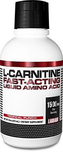 Labrada Nutrition Liquid L-Carnitine Powder, Tropical Punch, 16 Ounce