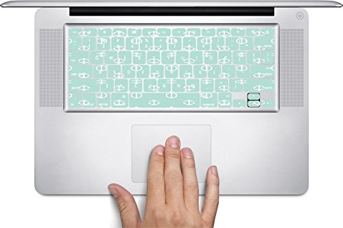 Chic Anchor Mint Green Macbook Keyboard Decals (Fits 13, 15, 17 inch Air/Pro/Retina) - Macbook Pro Cases Mint Green