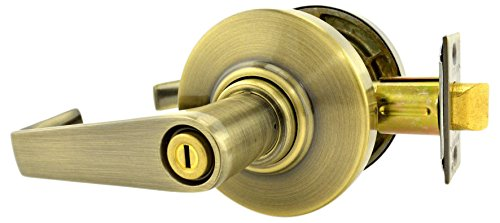 Schlage commercial AL40SAT609 AL Series Grade 2 Cylindrical Lock, Privacy Function, Saturn Lever Design, Antique Brass Finish by Schlage Lock Company