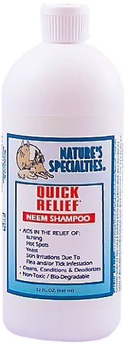 Nature's Specialties Quick Relief Neem Shampoo for Pets, 32-Ounce, My Pet Supplies