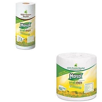 kitmrc4580mrc6709 - Value Kit - MarCal 1005 Premium Reciclado dos capas Baño Tejido (mrc4580) y Marcal toallas de papel (mrc6709): Amazon.es: Oficina y ...