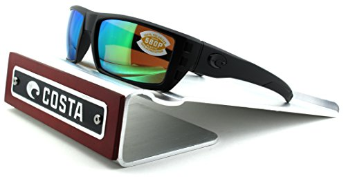 Costa Del Mar Rafael 580P Polarized Men Sunglasses (Blackout Frame, Green Mirror Lens - Del Costa Mar For Sale
