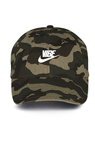 Just Vibe Swoosh Camo w/ White Dad Hat
