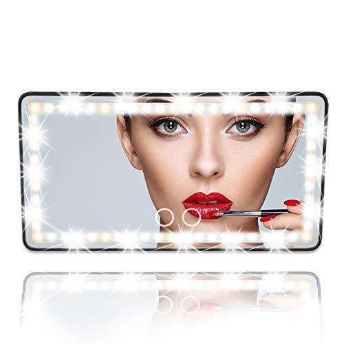 Car Visor Vanity Mirror Car Makeup Mirror with...