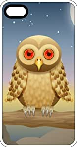 Tan Owl Chillaxing White Plastic Case for Apple iPhone 5 or iPhone 5s by icecream design