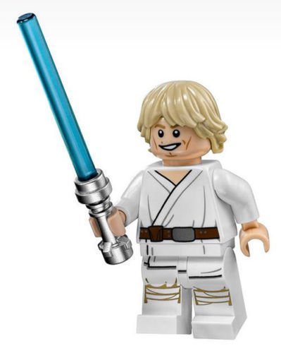 LEGO Star Wars Minifigure - Luke Skywalker with Lightsaber Tatooine (2014)