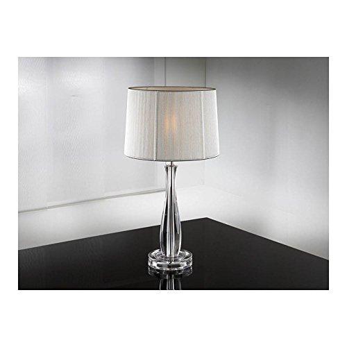 Schuller Spain 663023I4L Modern Silver Shade Table Lamp 1 Light Living Room, bed room, Study, Bedroom LED, Silver shade Clear Table Lamp   ideas4lighting by Schuller