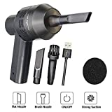MODAR Mini Portable Rechargeable Vacuum Cleaner,Car Pet Vacuum Dust Kit - Cleaning Dust, Hairs, Crumbs, Scraps, Cigarette Ash for Laptop, Keyboard, Makeup Bag, Car, Pet House(Small)