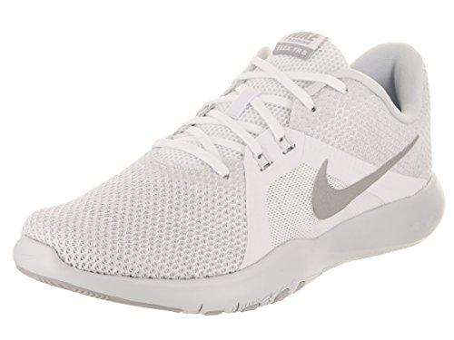 W metálico Zapatillas Flex para 8 de plateado de Nike mujer deporte blanco qwPEwnrF