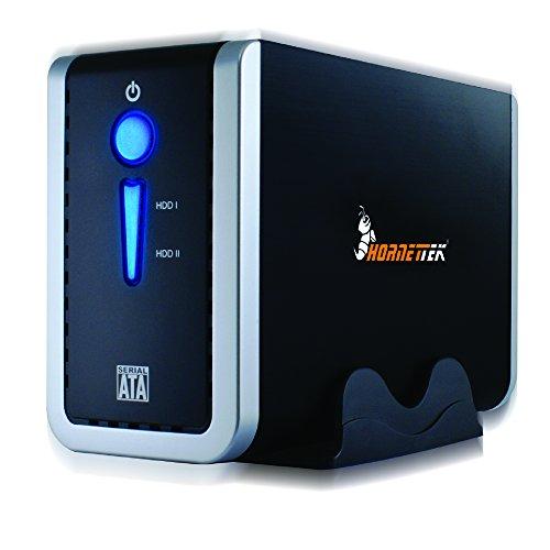 HornetTek x2USB 3.0tipo C Tipo de Gen I & un 8,9cm HDD Enclosure de doble bahía 5Gbps Max W/RAID 0& RAID 1