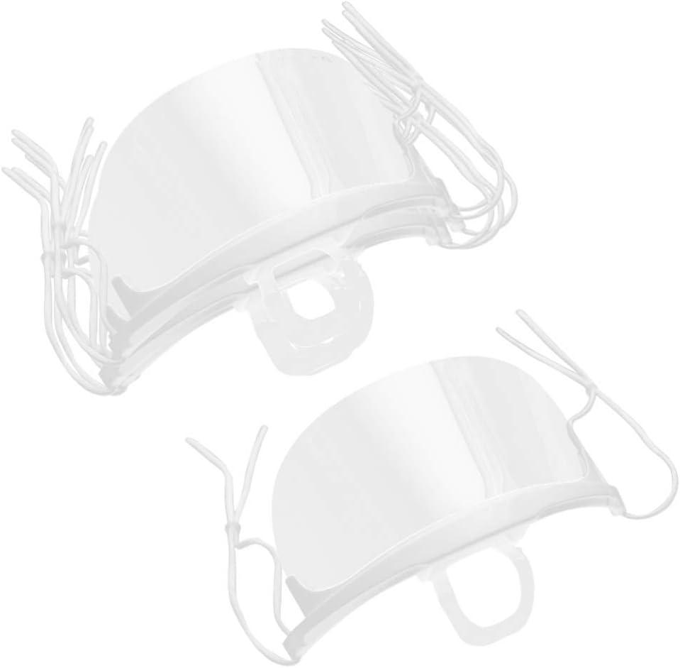 PRETYZOOM Chef Plástico Máscara Transparente Antiniebla Protector Facial Máscara Bucal Máscara Dental para Salón de Belleza Restaurante Hotel 2 Cajas / 20 Piezas