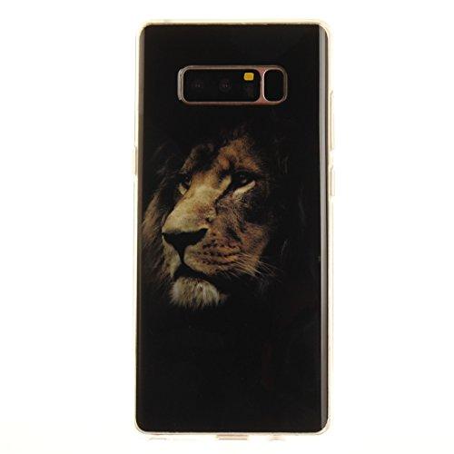 Fit De Antichoc Samsung Note8 Galaxy Slim tiger TPU Scratch Peint Protection Téléphone Souple Cas Couverture Motif Bord N9500 Silicone En Hozor Arrière Cas Résistant Transparent De Z16qdw1