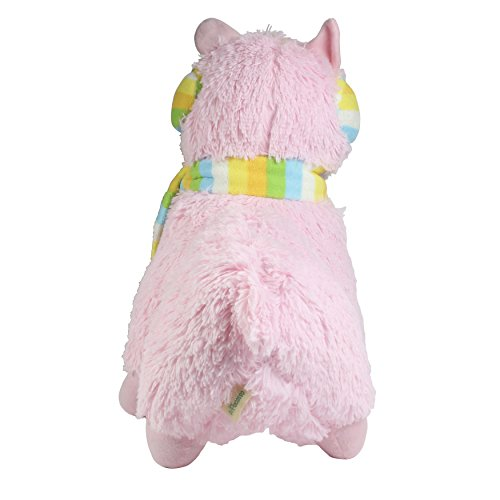 KSB 18'' Giant Pink Scarf And Earmuff Plush Alpaca,100% Plush Stuffed Animals Doll Toys,Best Birthday Gifts For The Children Kids Photo #3