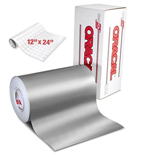 ORACAL 631 Matte Silver Metallic Adhesive Craft Vinyl 12