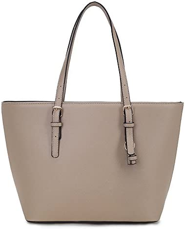 e5037441d Buy LS2 Ls Ladies Laptop Tote Bag Large Square Handbags with Adjustable  Handle Teacher Shopper Bags Candy Color Pu Leather - Light Khaki Online at  Low ...