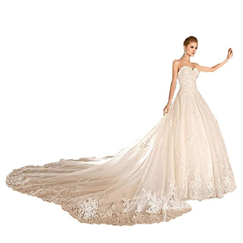 - Banfvting Sweetheart Court Train Wedding Dresses Bridal Gowns