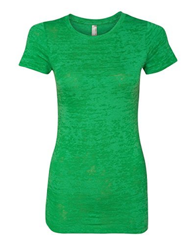 Womens Fitted Baby Rib Tee (Next Level Baby Rib-Knit Crewneck Burnout Jersey T-Shirt, Envy, Medium)