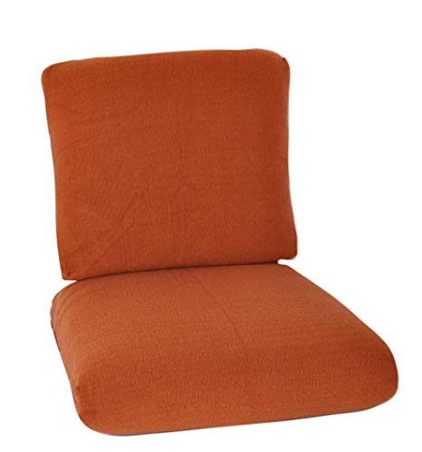 CushyChic Outdoors Terry Slipcovers for Deep Seat Cushions, 2 Piece in Rust - Slipcovers Only - Cushion Inserts NOT Included (Deep Seat Slipcover)