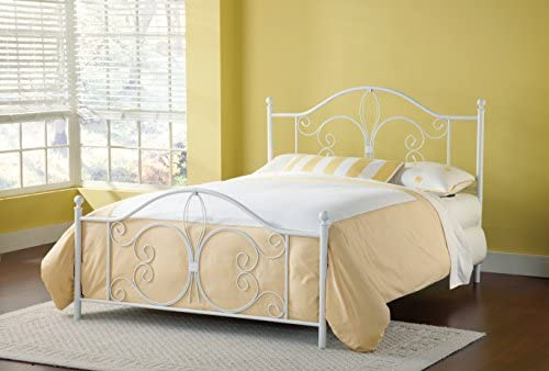 home, kitchen, furniture, bedroom furniture, beds, frames, bases,  beds 4 image Hillsdale Furniture Hillsdale Ruby Frame Queen Bed, White in USA