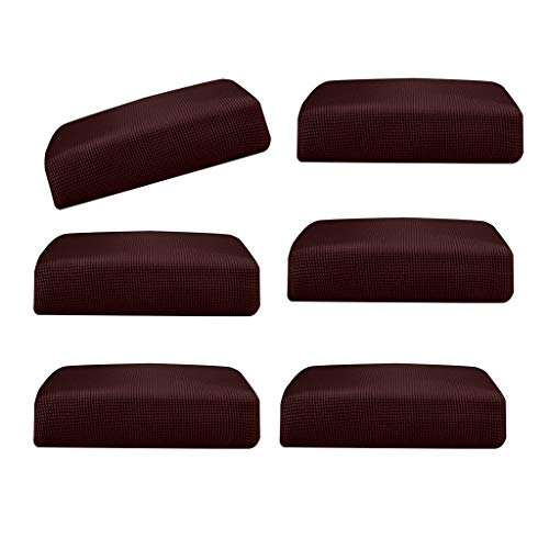 B Blesiya 6Pieces Dark Brown_Size S Elastic Sofa Futon Seat Bench Cushion Slip Cover Couch Slipcover Protector Replacement Garden Furniture from B Blesiya