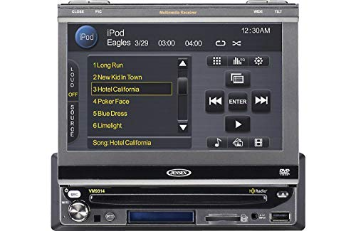 Jensen VM9314 In-Dash 7-Inch TFT-LCD Touchscreen Monitor with DVD/CD/MP3/WMA Player and HD Radio Tuner