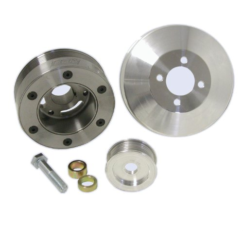 BBK 1564 Underdrive Pulley Kit for Ford Mustang GT/Cobra 4.6L - 3 Piece SFI Approved Crank Pulley Plus Aluminum WP and Alt by BBK Performance (Image #1)