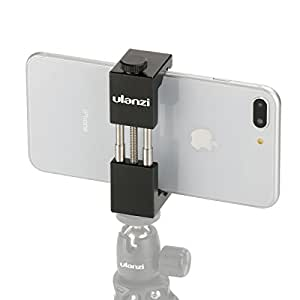 Metal Smartphone Tripod Mount - Ulanzi ST-01 Aluminum Metal Universal Smart Phone Tripod Holder Mount Adapter for Apple iPhone 7 & iPhone 7 Plus Sumsang Android Smartphones