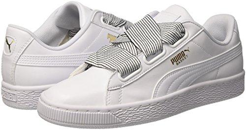 puma White Basket Scarpe White Puma Donna Ginnastica Wn's Basse Heart puma Bianco Da gqUO1U