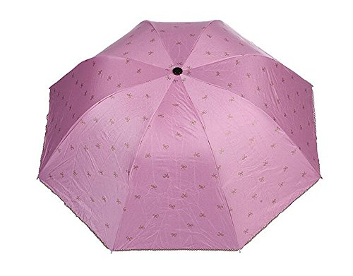 ding Umbrella Strong Sun UV Protection UPF50+ Canopy-Pink ()