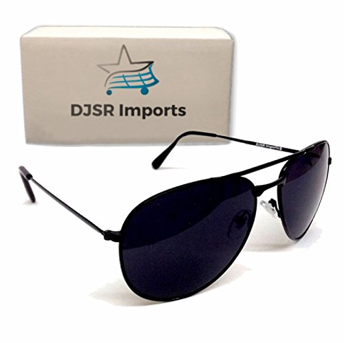Sunglasses Super Dark Black Dark Aviators Men Lens Shades Black Sunglasses Police - Sunglass Police