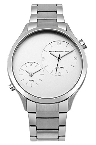French Connection Men's Quartz Metal and Stainless Steel Casual Watch, Color:Silver-Toned (Model: FC1284SM)