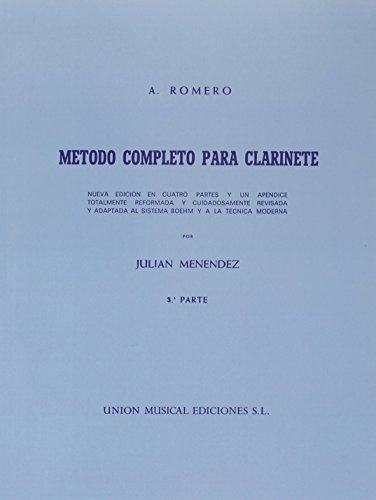 Descargar Libro Romero Metodo Completo Para Clarinete : Pt. 3 #value!