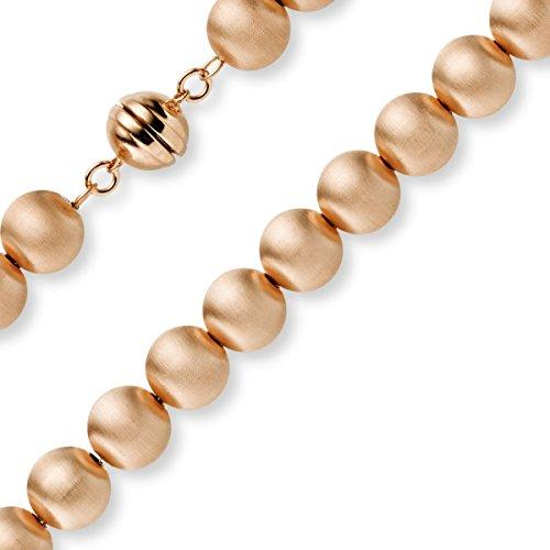 10mm Boule bracelet chaîne Bijou Bracelet en or rose 585Mat 21cm