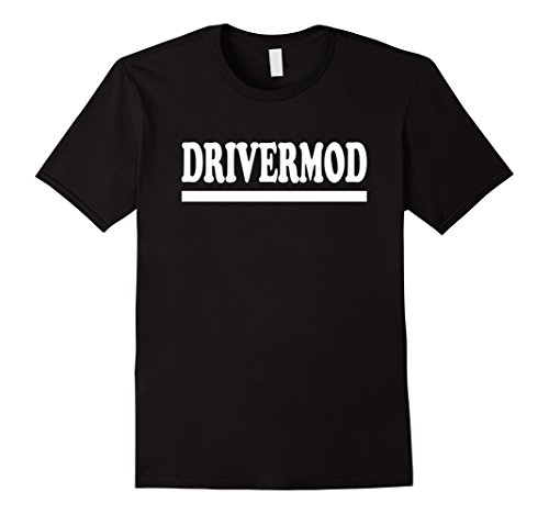 Mens Driver Mod T-Shirt for Car Enthusiast Speed and Track Racers Medium Black